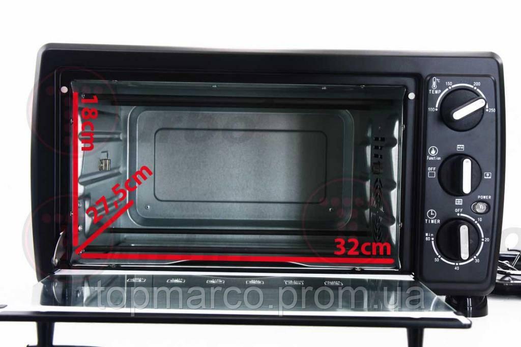 Мощная печь Turbo, гриль, вертел, 1600 Вт, 20 л! 5