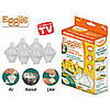 Яйцеварка eggies, формы для варки яиц без скорлупы ( 6шт) + ложка для отделения желтка от белка