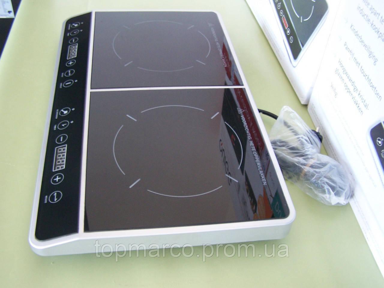 Плита індукційна подвійна QUIGG 3500W 2