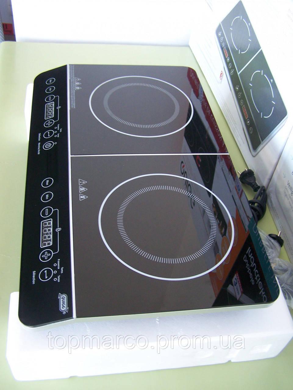 Плита індукційна подвійна QUIGG 3500W 5