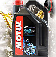 Моторное масло для 4-х тактных двигателей мотоцикла Motul 3000 4T 20W50 (4л)