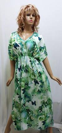 Платье-кимоно штапельное, длинное на резинке, Харьков, фото 2