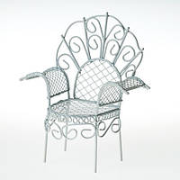 Кресло с подлокотниками миниатюра 11 см.