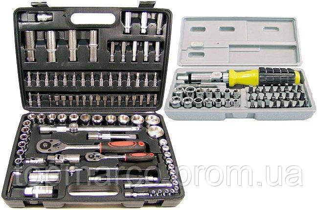 Набор инструментов 94шт + отвертка с насадками