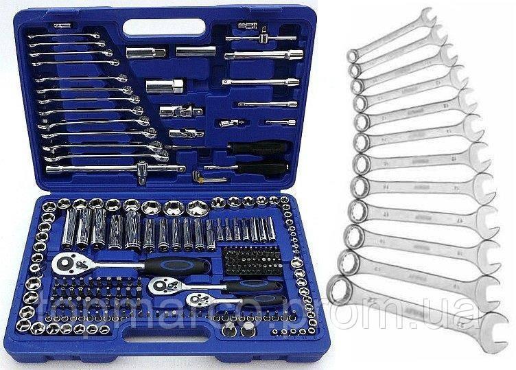 Набор инструментов TOPEX 219шт + ключи