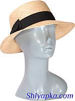 Шляпа соломенная с темной лентой, фото 1