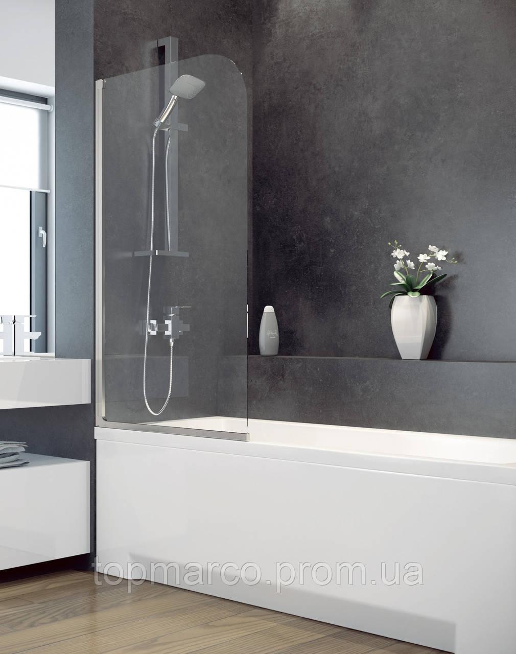 Шторка для ванны Besco PMD Ambition - 1 с полосками 75x130 3