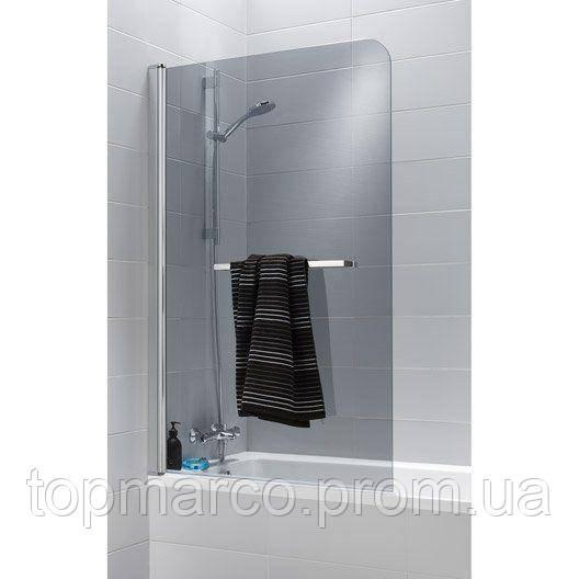 Шторка для ванны  двухсекционная Bricolage 140x85cm  ( ручка с вешалко