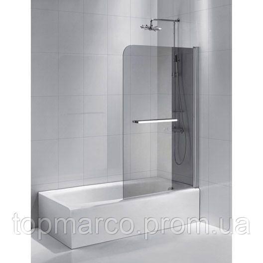 Шторка для ванны  двухсекционная Bricolage 140x85cm  ( ручка с вешалко 2