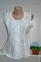 Майка/блуза летняя женская из натуральной ткани индия белый цвет, фото 1