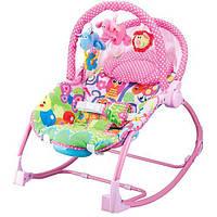 Шезлонг-качалка детский PK 308-PINK ***