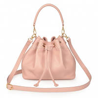 Женская кожаная сумка Katerina Fox розовой пудры цвета из натуральной кожи (KF-1026)