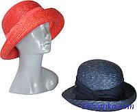 Шляпа из натуральной соломы женская с лентой, фото 1