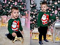 Новогодний детский свитшот, расцветки 3, 4-6 лет