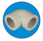 Колено полипропиленовое ASG-plast 90° d32 мм