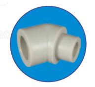 Колено полипропиленовое ASG-plast 45° внутреннее/наружное d 25 мм