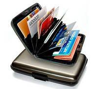 Водонепроницаемый бумажник aluma wallet, из прочного алюминия, защита от сканирования кредиток