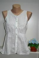 Майка летняя женская из натуральной ткани батист белый цвет, фото 1