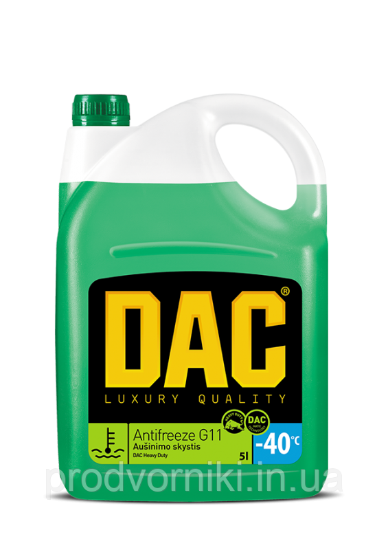Антифриз G11 5 л (зелений)/DAC Antifreeze G11 Heavy duty 5L (green)