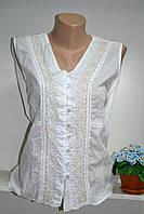 Майка летняя женская из натуральной ткани  белый цвет, фото 1