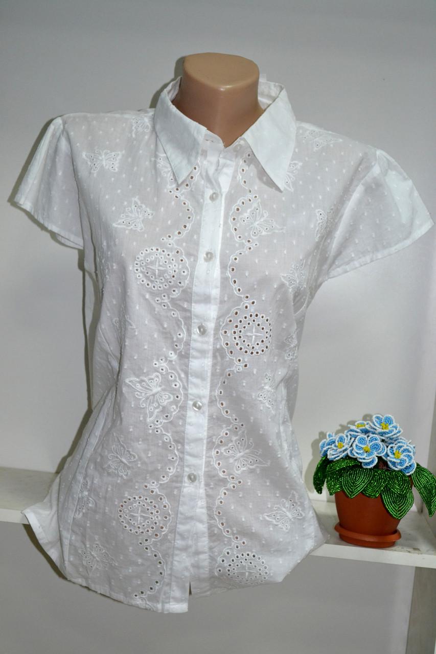 Блузка летняя  100% хлопковая  короткий рукав, фото 1