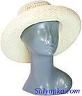 Шляпа летняя плетеная молочная, фото 2