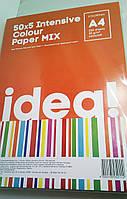 """Бумага """"IDEA!"""" А4 80г/м 50х4/200арк. Intensive Colour MIX"""