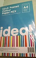 """Бумага """"IDEA!"""" А4 80г/м 50х4/200арк. Pastell Colour MIX"""