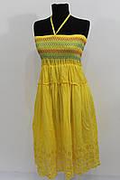 Сарафан-юбка из хлопка с вышивкой  купить оптом