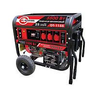 Генератор бензиновый макс. мощн. 6 кВт., ном. 5,5 кВт., 13 л.с., 4-х тактный, электрический и ручной пуск, комплект коле