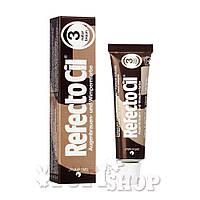 Краска для бровей и ресниц Refectocil №3 - натуральный коричневый,15 мл
