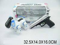 Собака-робот с пистолетом, свет, звук, в кор. 32х14х16 /36-2/