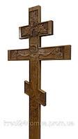 Дубовый резной крест с распятием Иисуса Христа