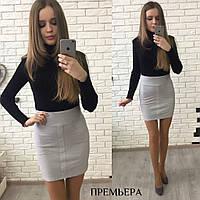 Женская стильная юбка-карандаш из замши  ,2 цвета
