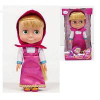 """Кукла """"Маша"""" 83033 (36шт/2)100 фраз, 4песни, учим алфавит/цвета,в кор.27*14,5*10,8см"""