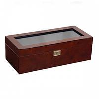 Шкатулка для часов WOLF  5 pc Watch Box Burl 461510