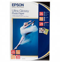 Бумага Epson 100mmx150mm Ultra Glossy Photo Paper, 50л. (C13S041943)