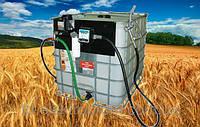Мобильная заправка для дизельного топлива, на базе Еврокуба на 1000 литров. Автономная АЗС на 1000л