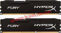 Оперативная память Kingston DDR3 8Gb (2x4GB) 1600 MHz HyperX Fury Black (HX316C10FBK2/8)