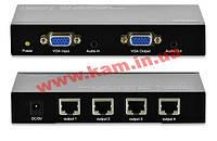 Удлинитель VGA Digitus 4-port extender over UTP 300m, Black (DS-53440)