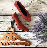 Актуальные туфли-лодочки из натуральной замши с оригинальным мыском   SH1702