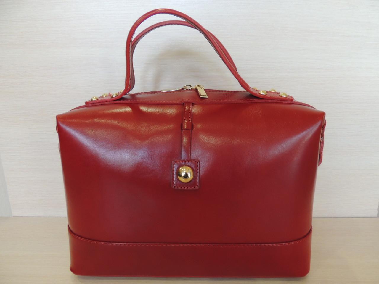 Красивая  деловая сумка женская кожаная. Италия.