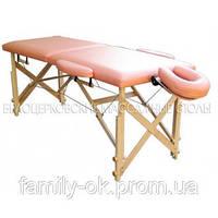 Массажный стол деревянный с подголовником и подлокотником
