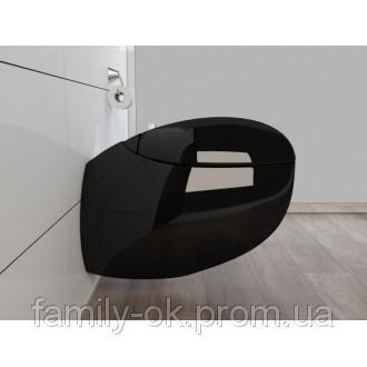 Унитаз настенный подвесной KERABADКВ 01 Black BIONA