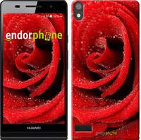 """Чехол на Huawei Ascend P6 Красная роза """"529c-39"""""""