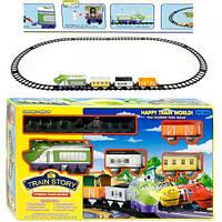 Железная дорога 3022 (24) звук, музыка, свет, 14 деталей, на батарейке, в коробке