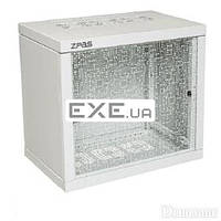"""Шкаф ZPAS 19"""" 12U 600x600 Z-BOX, съемные бок.стенки, стекл.дверь, 100kg max, сер (WZ-7240-20-A3-011)"""