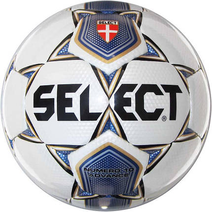 Мяч футбольный SELECT NUMERO 10 ADVANCE (005) БЕЛ/СИН P.4, фото 2