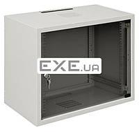 """Шкаф ZPAS 19"""" 12U 600x400, стекл.дверь, 30kg max, серый (WZ-3504-01-03-011)"""