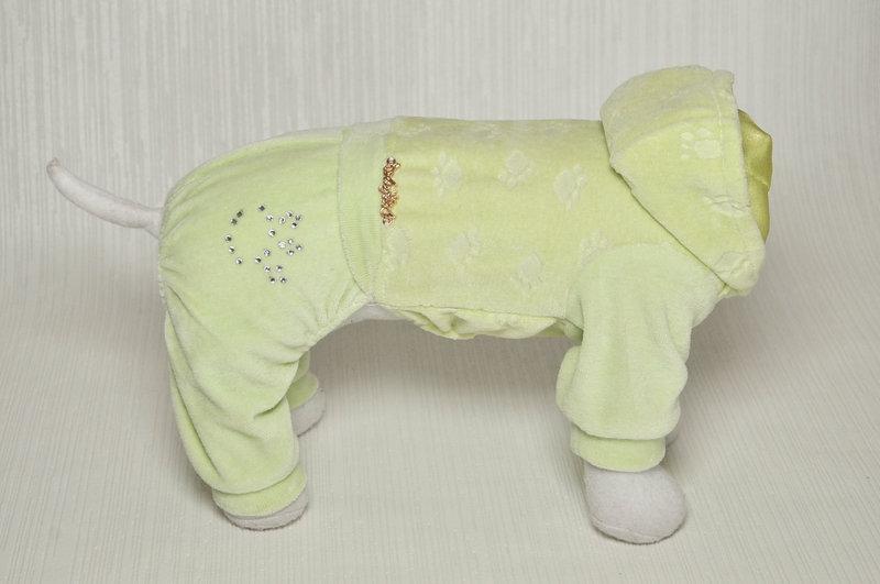 """Велюровый костюм """"Мимишка"""" размер M(28см) салатов Vip Doggy"""